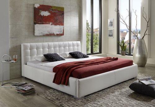 sam polsterbett 140x200 cm vita wei pflegeleichtes. Black Bedroom Furniture Sets. Home Design Ideas