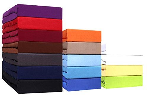 Sonderposten!! Mikrofaser SPANNBETTLAKEN zum Sparpreis! viele Größen und Farben Markenware (140x200 - 160x200 cm, schwarz)