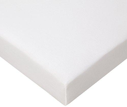 FabiMax 2693 Jersey Spannbettlaken für Laufgitter, 100 x 100  cm, weiß