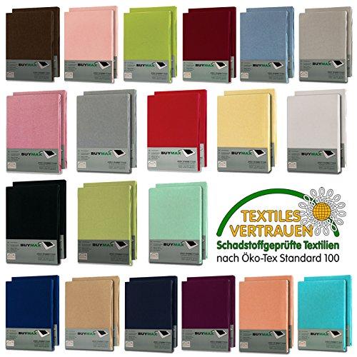 Spannbettlaken DOPPELPACK Jersey Baumwolle Spanbettücher Bettlaken in Farbe: Altrosa, Größe: 140 x 200 cm - 160 x 200 cm