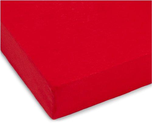 Julius Zöllner 8320147750 - Spannbetttuch Jersery für Kinderbett, Größe: 60 x 120 cm/70 x 140 cm, Farbe: rot