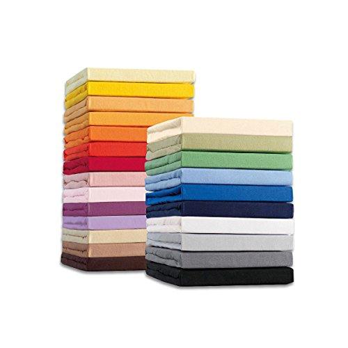 Spannbettlaken Jersey Spannbetttuch Spannbettücher 90x200 - 100x200 cm Restposten (Gelb)