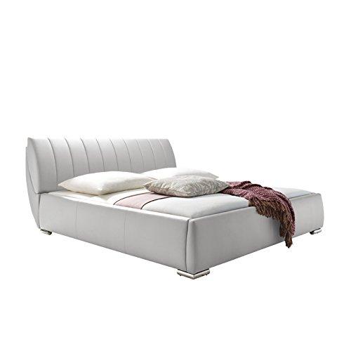 design polsterbett kunstleder wei 180 200cm inkl lattenrost doppelbett bett. Black Bedroom Furniture Sets. Home Design Ideas