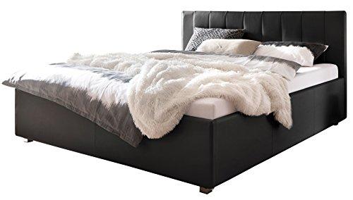 polsterbett mit kissenoptik tonnentaschenfederkern matratze. Black Bedroom Furniture Sets. Home Design Ideas