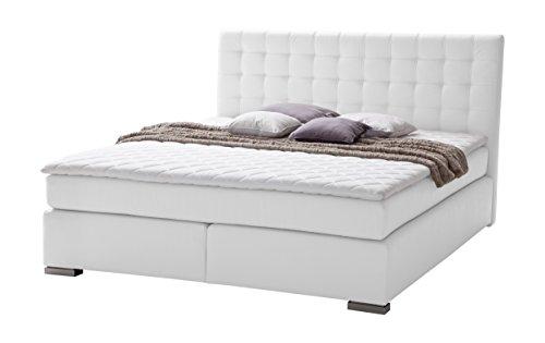 sette notti boxspringbett 160x200 wei boxspringbett mit komfortschaumtopper 5 cm 2 x 7 zonen. Black Bedroom Furniture Sets. Home Design Ideas