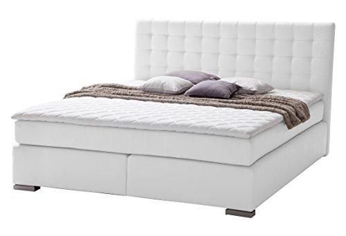 sette notti boxspringbett 180x200 wei boxspringbett mit kaltschaumtopper 7 cm 2 x 7 zonen. Black Bedroom Furniture Sets. Home Design Ideas