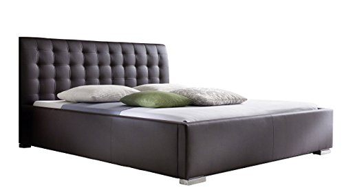 sette notti polsterbett bett 100x200 cm braun bett mit xxl kopfteil boxspringbett optik. Black Bedroom Furniture Sets. Home Design Ideas