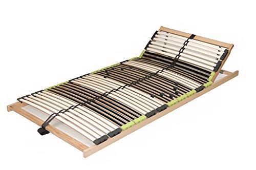 """7 Zonen Lattenrost Lattenrahmen zerlegt Lattenrost """"DaMi Relax Kopf"""" mit 42 Federholzleisten und Kopfverstellung (70 x 200 cm)"""