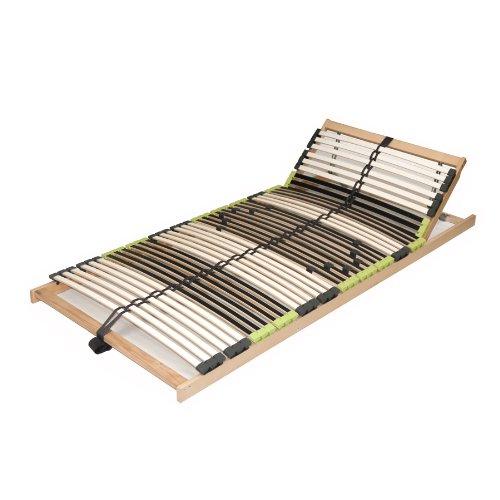 "7 Zonen Lattenrahmen Lattenrost 90x200 cm ""DaMi Relax Kopf"" zerlegt inkl. Härteverstellung 42 Federholzleisten"