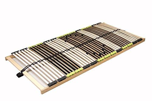 """7 Zonen Lattenrost Lattenrahmen zerlegt Lattenrost """"DaMi Relax NV"""" mit 42 Federholzleisten und 6 fache Härteverstellung (70 x 200 cm)"""