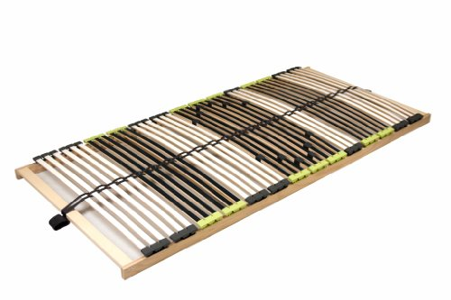 "7 Zonen Lattenrost aus Buche ""DaMi Relax NV"" inkl. 6 fache Härteverstellung, zerlegt 90 x 200 cm"