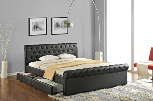 doppelbett polsterbett bettgestell bett lattenrost kunstleder tonnentaschenfederkern matratze. Black Bedroom Furniture Sets. Home Design Ideas