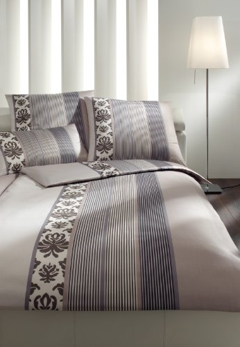 Joop Mako Satin Bettwäsche Ornament Stripe 155x220 4022/77