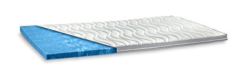 aquasoft gelschaum topper matratzenauflage 10 cm gesamth he waschbarer bezug mit 3d mesh. Black Bedroom Furniture Sets. Home Design Ideas