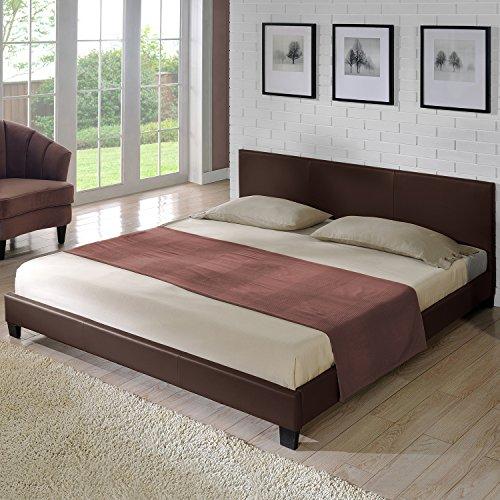 corium polsterbett barcelona dunkelbraun 140x200cm. Black Bedroom Furniture Sets. Home Design Ideas