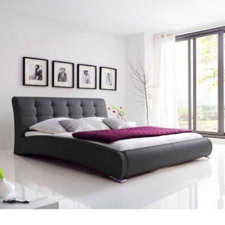polsterbett celine 100x200cm schwarz matratzen. Black Bedroom Furniture Sets. Home Design Ideas