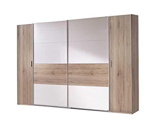 Wimex K21788 Dreh- Schwebetürenschrank, Holz, columbia nussbaum nachbildung / absätze prosecco farbig, 65 x 270 x 208 cm