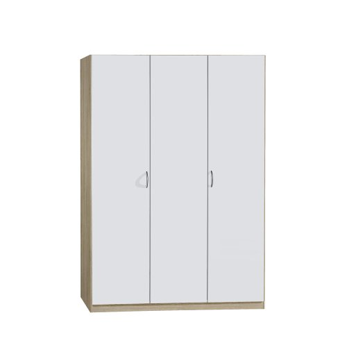 rauch kleiderschrank case 3 t rig eiche sonoma nachbildung wei matratzen online shop. Black Bedroom Furniture Sets. Home Design Ideas