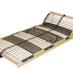 """7 Zonen Lattenrost Lattenrahmen zerlegt Lattenrost """"DaMi Relax Kopf"""" mit 42 Federholzleisten und Kopfverstellung (100 x 200 cm)"""