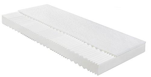 sleepling 190138 Matratze Basic 70 Kaltschaum - Härtegrad 2 100 x 200 cm, weiß