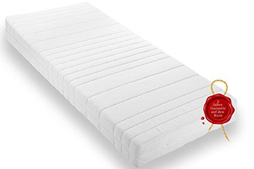 Wohnorama Qualitäts Matratze 140x190 ca. 16cm Gesamthöhe eine Rollmatratze inkl. Klimafaser, Öko-Tex 100, 4 Seiten Reißverschluss,Schadstoffgeprüft LGA, 5 Jahre Garantie* eine Komfortschaummatratze di