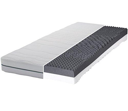 Gigapur Boston 28565 Matratze | 7-Zonen Kaltschaummatratze H2 und H3 | Premium Schaumstoff-Matratze | Geeignet für Doppelbett und Einzelbett | 90 x 200 cm
