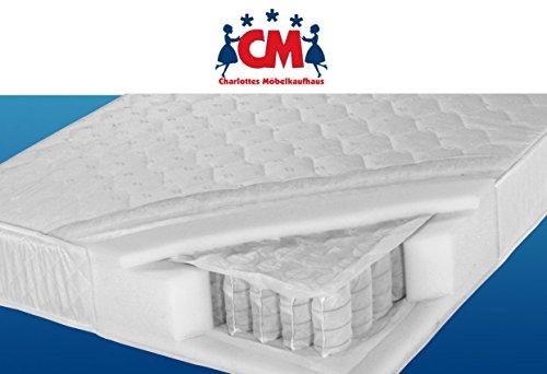 Tonnen-Taschenfederkernmatratze 120x200 cm Florence Plus Qualitätsmatratze Tonnentaschenfederkern Matratze H2 / H3. Klimafaser, atmungsaktiv, ca. 17 cm hoch.