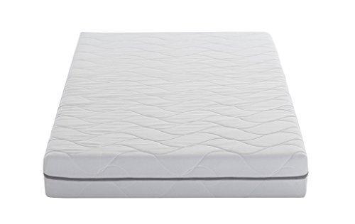 AmazonBasics Extra Komfort 7-Zonen Schaumstoff-Matratze (H3) - 90 x 200 cm, hypoallergener Bezug waschbar bis 60°C