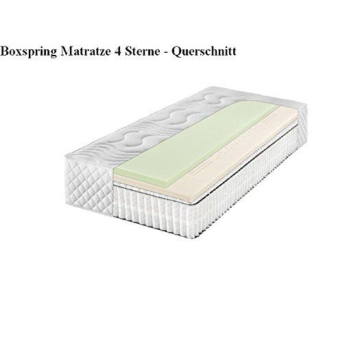 f a n frankenstolz boxspring 4 sterne 7 zonen tonnentaschenfederkern matratze 180 200 h3. Black Bedroom Furniture Sets. Home Design Ideas