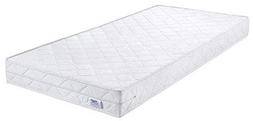 Traumnacht Basic Komfortschaummatratze Härtegrad 2 (H2) 90 x 200 cm, weiß