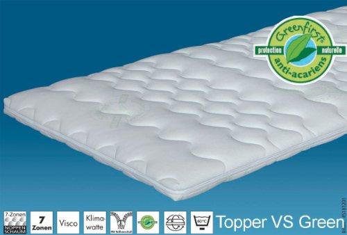 Matratzenauflage Topper Visco Green Liegefläche: 100 x 200 cm