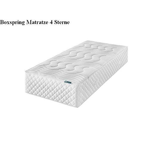 f.a.n. Frankenstolz Boxspring 4 Sterne 7-Zonen-Tonnentaschenfederkern-Matratze - 160x200 H2+H3 Standardgröße