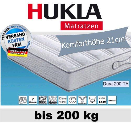 Hn8 Dura 200 TA 7-Zonen-Tonnen-Taschenfederkern-Matratze für Personen bis 2...