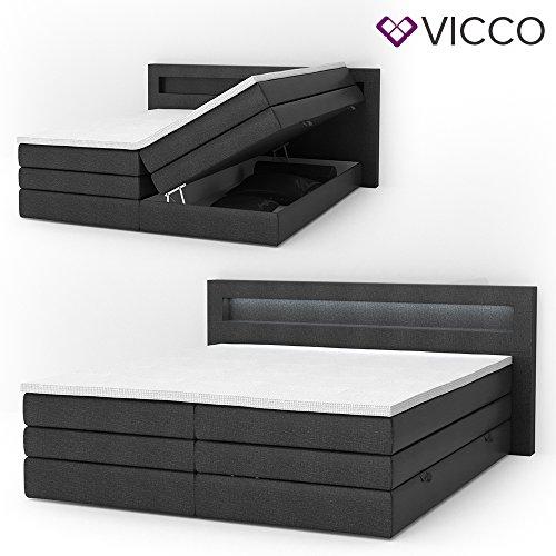 design boxspringbett led doppelbett bett hotelbett ehebett. Black Bedroom Furniture Sets. Home Design Ideas