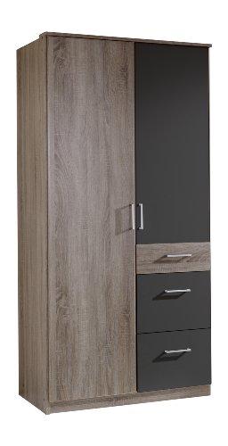 wimex 130624 kleiderschrank 90 x 199 x 58 cm 2 t rig mit zwei gro en und einen kleinen. Black Bedroom Furniture Sets. Home Design Ideas