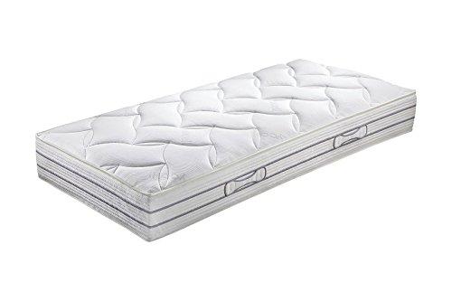 Hn8-Schlafsysteme 'Duo Luxe' Doppel-Tonnen-Taschenfederkern-Matratze mit 7-Zonen, Härtegrad H2, Größen Matratzen:100 x 200 cm