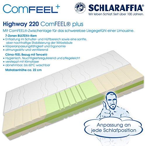 Schlaraffia Highway 220 ComFEEL 7-Zonen Kaltschaum-Matratze H3 (90 x 200cm)