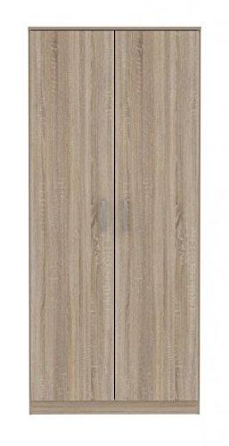 2 trg Kleiderschrank Schlafzimmer Universalschrank Garderobe Dielen-Schrank Sonoma Eiche