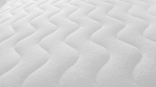 Sunrise+ Kindermatratze 90x200 cm. Schaumstoffmatratze mit Frottee-Strech Bezug und Wellensteppung. Punktelastisch, Klimafaser Versteppung, Allergiker Ausführung, Bezug waschbar. Kinder Komfort Schaumstoff Matratze, Qualitäts-Matratze, Markenware, Rollmatratze. Sofort lieferbar, neu bei Amazon