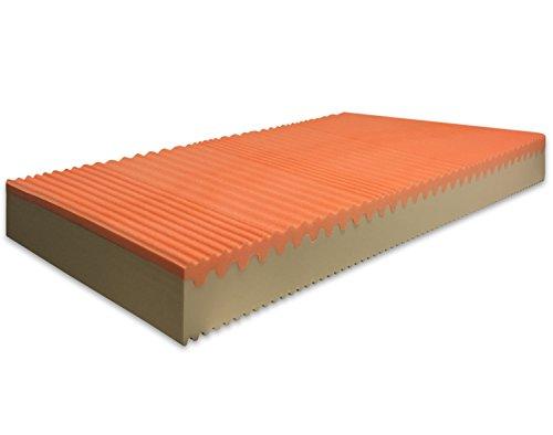 MARCAPIUMA - Matratze Memory Soia Bio 90x200 cm 20 Höhe - SUNRISE PLUS - Einzelbett 2 Schichten Wellness Bettcomfort 7 Zonen Komfortschaummatratze - Härtegrad H3 Fest - Orthopädische Hochwertige Viscoelastische Kaltschaummatratze Bettcomfort - SILVER Bezug mit Silberionen und Reißverschluss waschbar bei 60° gegen Milbe antiallergen und Atmungsaktiv 100% Made in Italy
