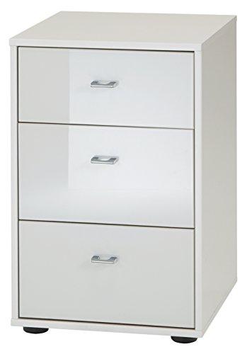 Wiemann 593803 Tokio Nachttisch, Holz, alpinweiß, 43 x 40 x 64 cm, montiert