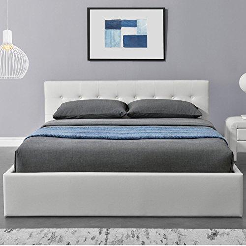 Polsterbett Marbella 140 x 200 cm - weiß