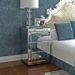 Panana Nachttisch mit 3 Schubladen Spiegelschrank für 65x44x44 CM - GD-fm0861
