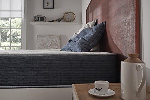 Naturalex-Royalvisco Matratze 140x200cm Blue Latex® + gedächtnisschaum Thermosoft® sehr hoher dichte + 7 komfortzonen 25cm, komfort Sehr Fest