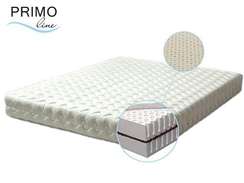 Primo Line Latexmatratze Kokos - 7 Zonen orthopädische Matratze 90x200 H3 mit Naturkokosplatten Höhe 20cm RG 70 (bis 125 kg) - Bezug waschbar mit Reißverschluss - ÖKO TEX® zertifiziert