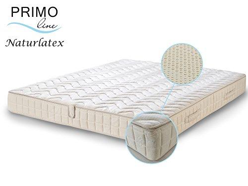 Primo Line Natur Latexmatratze NATURA - 80% Naturlatex 7 Zonen Matratze 180x200 H2 Höhe 20 cm RG 75 (bis 95 kg) - Doppeltuch-Bezug waschbar - ÖKO TEX® zertifiziert