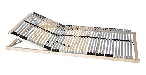 7 Zonen Premium Lattenrost 90x200 Kopfteil Härtegrad verstellbar 42 Leisten Mittelgurt