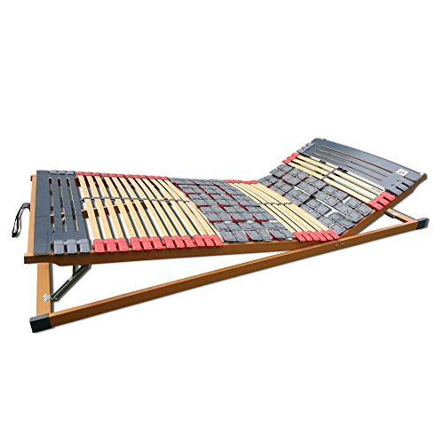 7 Zonen Teller-Leisten Lattenrost Rhodos Komfort KF verstellbar 90 x 200 cm