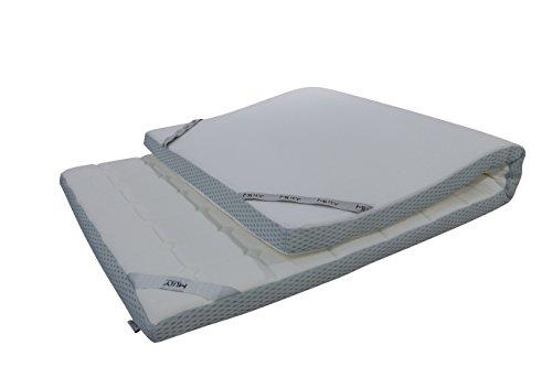 Ebitop Topper-Matratze-Matratzenauflage, Ebi - A1- 160.7 Bezug-waschbar Viskose Matratzenauflage, 200x160x7 cm weiß'