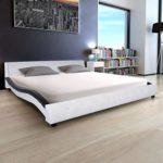 Festnight Polsterbett Bett Doppelbett Ehebett mit Matratze 180x200 cm Kunstleder